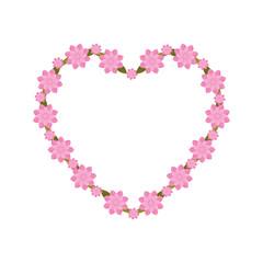 pink heart flowers decoration vector illustration esp 10