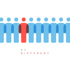 Be different concept illustration