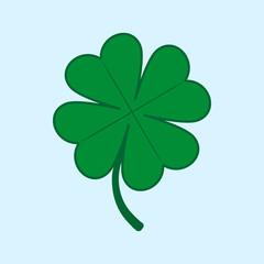 Green four-leaf clover logo