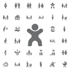 Baby icon. Set of family icons