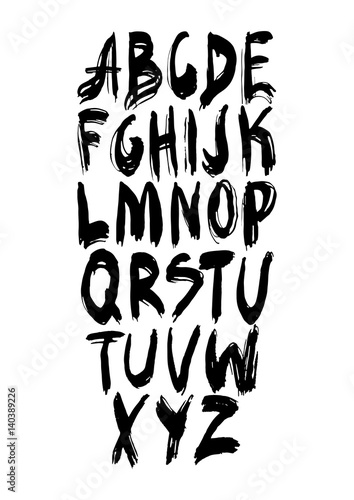 Graphic Font for your design  Hand drawn calligraphy lettering