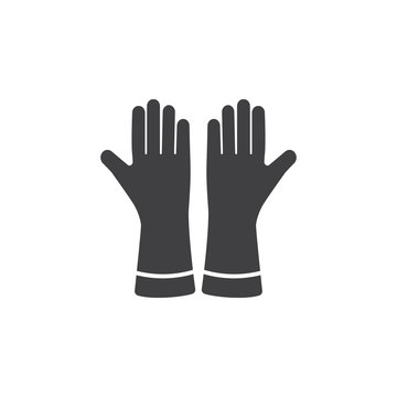 gloves icon on the white background