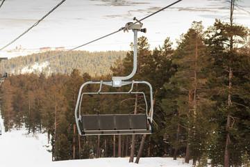 Ski Lift and Ski Resort Winter Season
