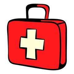 Medicine chest icon, icon cartoon
