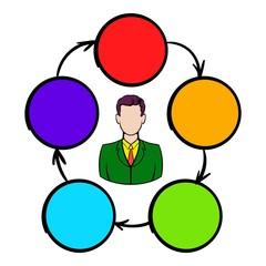 Cooperation, teamwork, partnership icon
