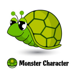 Turtle cute character monster