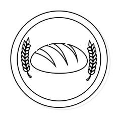 delicious bread bakery shop vector illustration design