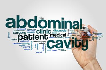 Abdominal cavity word cloud