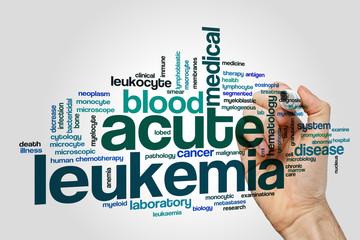 Acute leukemia word cloud