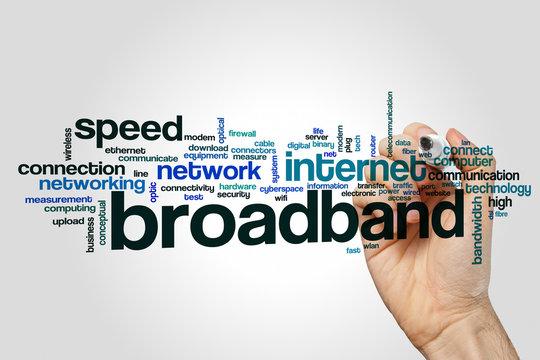 Broadband word cloud