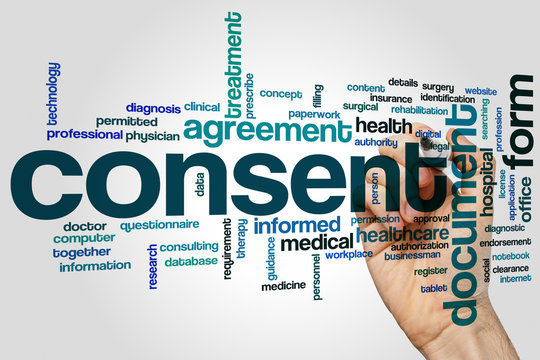 Consent word cloud