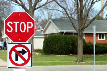 Stop Traffic Sign  On Country Road