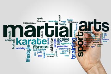 Martial arts word cloud concept