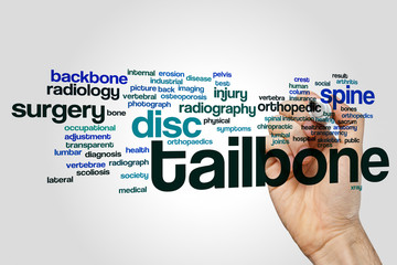 Tailbone word cloud