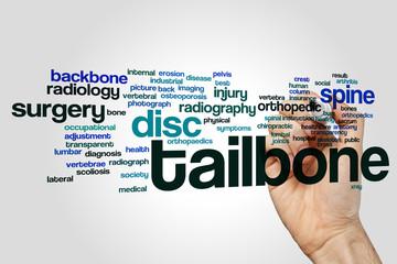 Tailbone word cloud