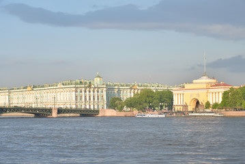 The Hermitage and the Palace bridge.