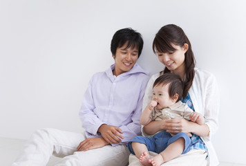 Parents and Baby Boy