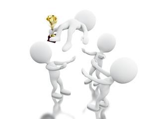 3d team work. Business concept.