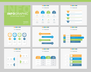 flat vector set infographics element design template. for business, presentation  , brochure, annual report and web design