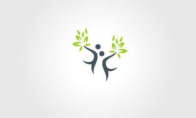 Health nature vector web identity card logo