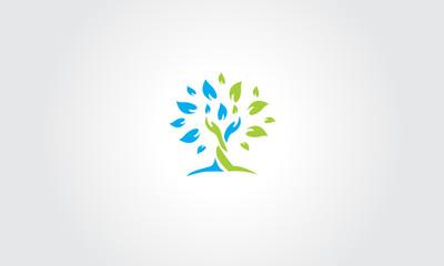 tree logo, eco emblem, ecology natural symbol
