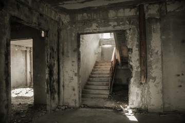 Old concrete staircase