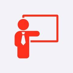 teacher and the Board icon stock vector illustration flat design