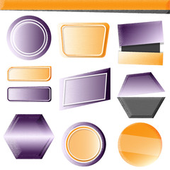 Set of modern banners. Yellow and purple color ingradient style.
