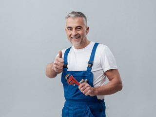 Cheerful repairman
