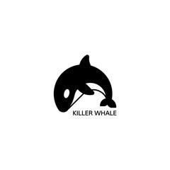 Orca icon. Vector illustration.
