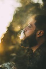 Man enjoying a joint