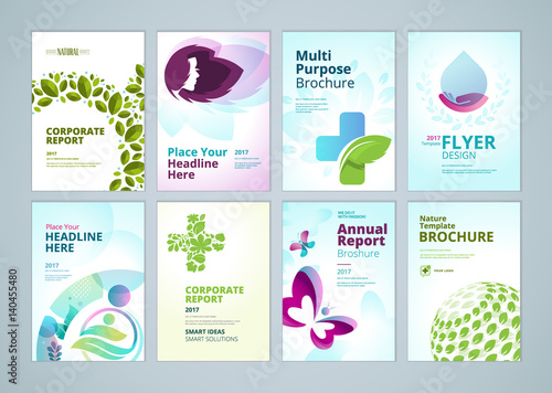 healthcare and natural products brochure cover design and flyer, Presentation templates