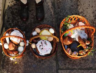 Easter basket, eggs, Orthodox Easter,