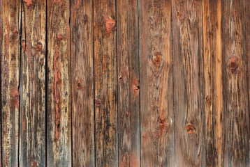 Vintage wood background texture with knots.