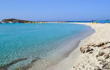 Photo sur Aluminium Chypre Beautiful lagoon beach on Cyprus island near Ayia Napa