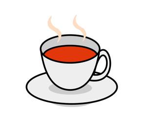 カップ(紅茶、湯気ふちなし)
