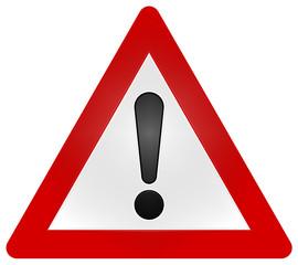 German/European Warning Traffic Sign