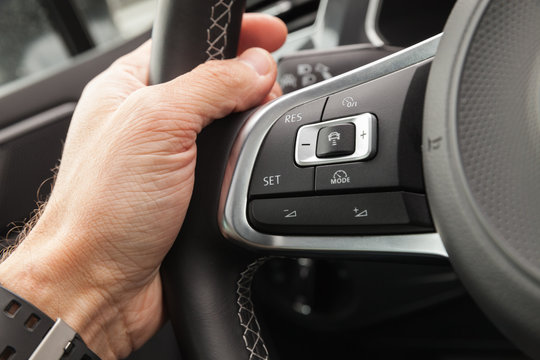 Adaptive cruise control panel buttons
