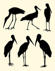 Storks birds animal silhouette. Good use for symbol, logo, mascot, web icon, sign, or any design you want.