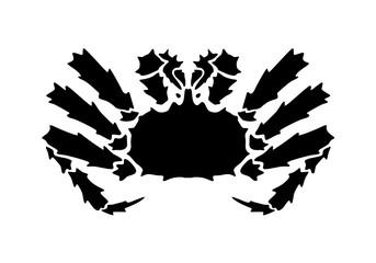 graphic Alaska crab, vector