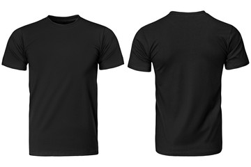 Black t-shirt, clothes