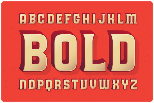 Big bold extruded typeface with smooth gradient fill