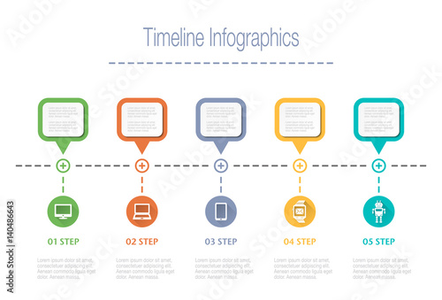 business overview visualization timeline infographic data business