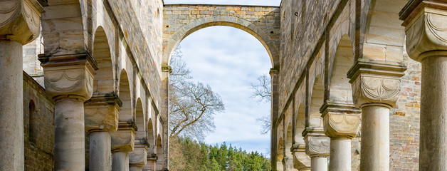 Monastery ruins in Paulinzella in Thuringia Germany