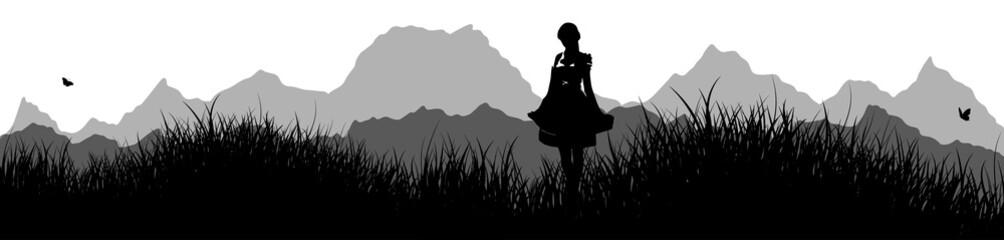 Panorama | Frau im Dirndl