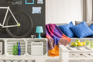 Colourful room of the student