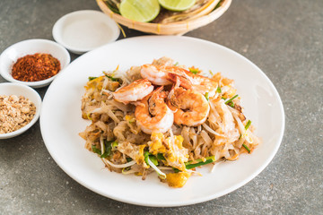 "Thai Fried Noodles ""Pad Thai"" with shrimps"