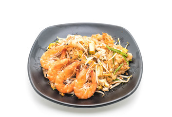 "Thai Fried Noodles ""Pad Thai"" with shrimps or prawns"