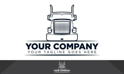 Truck logo, automotive logo, logo template
