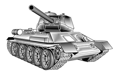 Medium tank T-34 of the World War II. Part 1